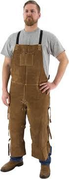 "<b>Leather Welding</b> Split Leg <b>Apron</b>, 48"" - Majestic Glove"