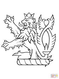 Small Picture Lion Rampant of Scotland coloring page Free Printable Coloring Pages