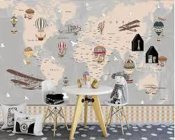<b>beibehang Custom wallpaper 3d</b> photo mural cartoon world map ...
