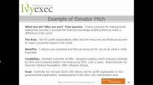 creating your elevator pitch how to communicate your value in  creating your elevator pitch how to communicate your value in 20 seconds ivy exec webinar video