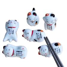 <b>Lucky cat</b> Chopsticks Holder Japanese ceramic chopsticks care ...