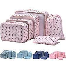 Arxus 6 Set Packing Cubes <b>Travel Luggage</b> Waterproof <b>Organizers</b> ...