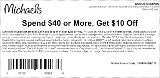 michaels coupons printable coupons in store coupon codes print this coupon and get 10 off when you spend over 40 at michaels stores