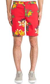 <b>Obey ШОРТЫ WORKING</b> MAN II в цвете Hawaiian Red | REVOLVE