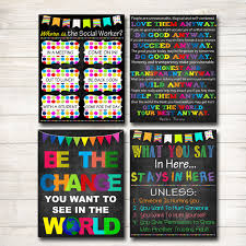 social worker posters social worker gifts social work office 🔎zoom