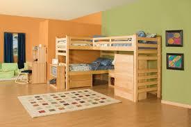 wooden triple trundle bunk bed with study desk chair set for kids bedroom furniture set bunk bed desk trundle