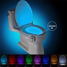 8/<b>16 Colors Hanging</b> Toilet Bowl LED Automatic Night Light Body ...