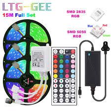 LTG-GEE 5050 RGB LED Strip Lights 10M 300LEDS <b>5m 10m 15M</b> ...