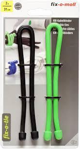 Cтяжка для кабеля <b>Fix</b>-<b>o</b>-<b>moll</b>, 31 см, цвет: зеленый, черный, 2 шт