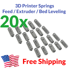 <b>20x 3D Printer Extruder</b> Spring Feed Bed Leveling MakerBot Prusa ...