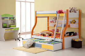 space saving ideas for small bedroom design featuring cool bunk beds with trundle and cream small bedroom photo 4 space saver