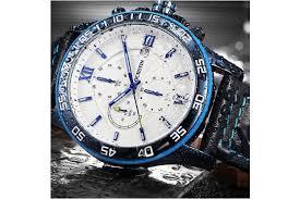 OCHSTIN 6068A Creative Quartz Watch- Blue   Watches - Dick Smith