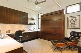 spacious office day with twin murphy beds bed in office
