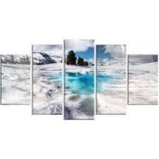 "Ready2hangart - Crystaline Waters Wall Décor Set - 60"" - Blue - <b>5</b> ..."
