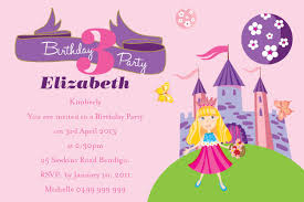 birthday invitation wording for kids invitations design pink and princess birthday party invitation wording sample for girls