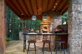 patio outdoor stone kitchen bar:  outdoor kitchen bar patio rustic with outdoor kitchen wood beam