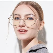 Oversized <b>Clear Round</b> Glasses Silver Metal Frame <b>Vintage</b> Big ...