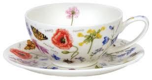 Купить <b>Dunoon Чайная пара</b> Полевые цветы 250 мл белый ...