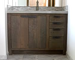 country themed reclaimed wood bathroom storage: reclaimed wood cabinets bath interesting reclaimed wood cabinets bath study room charming img  view