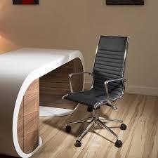 Modern <b>Luxury Office Chair Black</b> Leather Executive Ergonomic ...