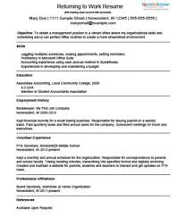 example resume for a homemaker returning to workdownload a sample resume for a homemaker returning to work  source  moms who decide to stay home