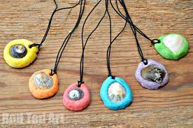 Easy Salt Dough Keepsakes - <b>Shell Pendants</b>