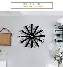 <b>Metal Creative</b> Wall Clocks <b>Large</b> Decorative Silent Black Wooden ...