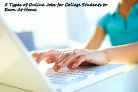 types of online jobs for college students to earn money