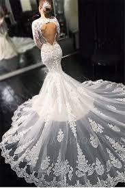 Elegant <b>Lace Appliques Long Sleeves</b> Mermaid Wedding Dresses ...