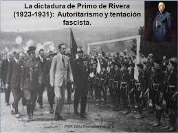 Resultado de imagen de PRIMO DE RIVERA DICTADURA