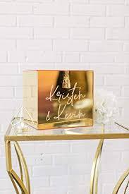 Gold Mirror Acrylic Wedding Card Box: Handmade - Amazon.com