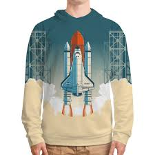 <b>Толстовка с полной</b> запечаткой Покорение космоса #2350813 от ...