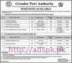 new career gpa gwadar port authority pak friendship road new career gpa gwadar port authority pak friendship road gwadar jobs for assistant engineer