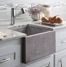white farmhouse kitchen sink built