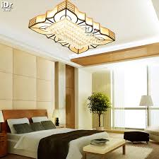 new design crystal light luxury lamp ceiling lights led rectangular living room bedroom factory outlets cheap bedroom lighting