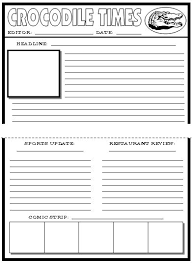 newspaper templates and for kids on pinterest