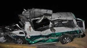 مصرع وإصابة 9 أشخاص فى حادث انقلاب سيارة بـ