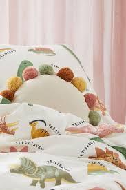 <b>Комплект постельного белья</b> - Натуральный белый/Динозавры ...