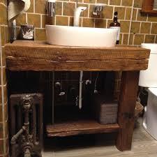 reclaimed wood bathroom vanity bath mixer tap