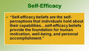 self efficacy excellence in school counseling individuals high self efficacy believe they are capable of achieving specific performance goals self efficacy reflects confidence in the ability to