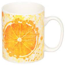 <b>Кружка</b> фарфоровая Фрукты Апельсин DNN, 325 мл в ...