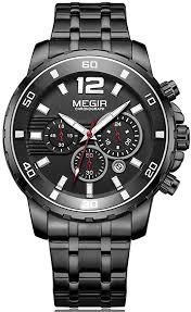 MEGIR Fashion Chronograph Quartz Watches Men ... - Amazon.com