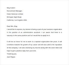 administrative assistant cover letter template     free samples    sample administrative assistant cover letter
