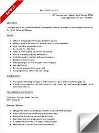 resume for a restaurant job  seangarrette coresume for a restaurant job catering manager job description