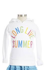 Peek '<b>Long Live Summer</b>' Hoodie (Toddler Girls, Little Girls & Big ...