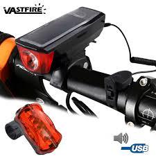 Battery <b>Bike Light</b> Set Front Headlight Bicycle <b>Taillight USB</b> ...