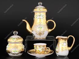 <b>Кофейный</b> сервиз мокко из богемского стекла 15 предметов в ...