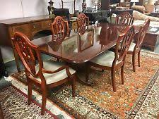 bernhardt large cherry wood dining room set six chairs table two leaves 118 bernhardt furniture reception room chairs