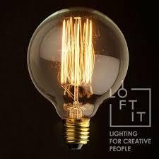40Вт декоративная <b>лампа</b> накаливания большой шар E27 <b>LOFT</b> ...