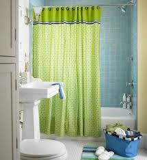 remodeling bathroom wall tile plus minimalist pedestal vanity sink design also unique green shower curtain idea ample shower lighting